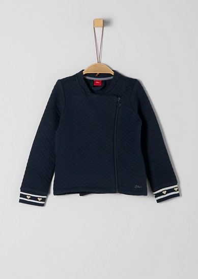 Sweatshirt jacket with a textured pattern from s.Oliver