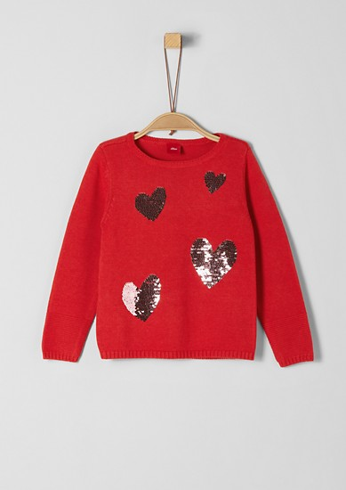 Jumper with reversible sequins from s.Oliver