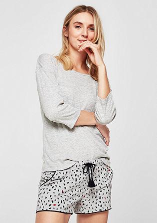 Gemusterte Pyjamashorts