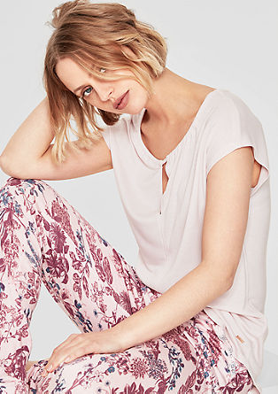 Pyjamashirt met cut-out