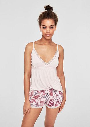 Gemusterte Pyjama-Shorts