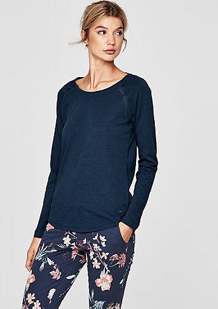 Pyjama-Shirt mit Mesh-Details