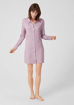 Nachthemd met de look van een overhemdblouse