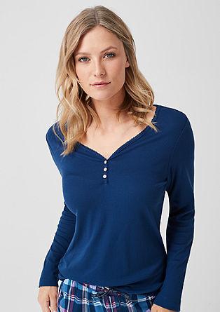 Rebrasta majica z dolgimi rokavi za doma