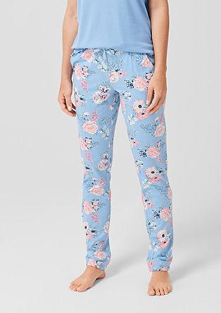 Dolge pižama hlače z vzorcem