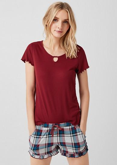 Geripptes Nightwear-Shirt