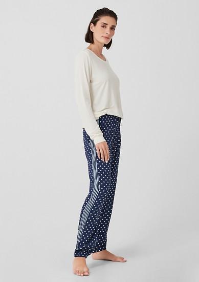 Pyjamabroek met stipjesmotief