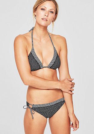Bikinitop in haltermodel, met motiefmix