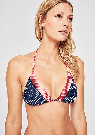 Neckholder Bikini-Top mit Punkten