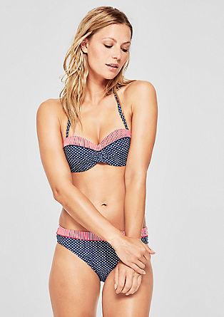 Bandeau Bikini-Top im Mustermix