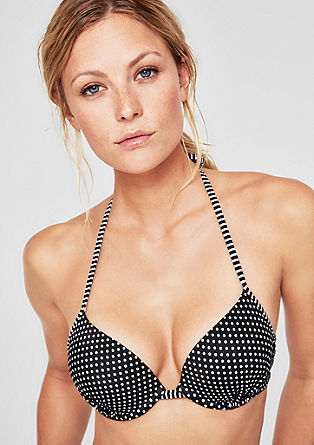 Bikinitop in haltermodel, met push-up-effect
