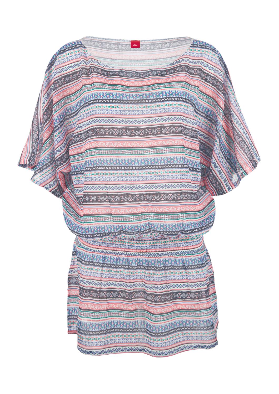 Tunika-Kleid | Bekleidung > Tuniken > Sonstige Tuniken | Blau | 100% polyester | s.Oliver