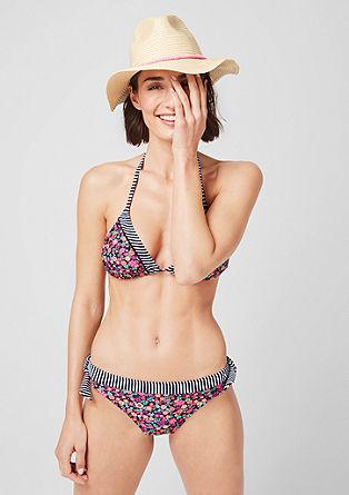 Bikinitop met een motiefmix