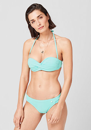 Bandeau-Bikini mit Drapierung