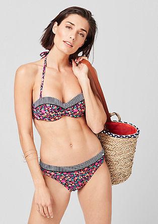 Bandeau-Bikini-Top im Mustermix