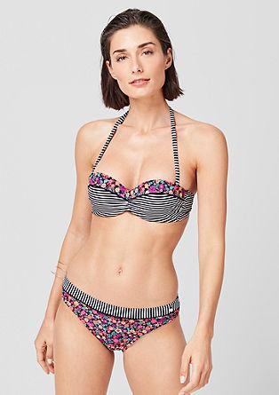 Bandeau bikini top z mešanim vzorcem