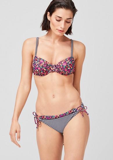 Bikinitop met beugels en motiefmix