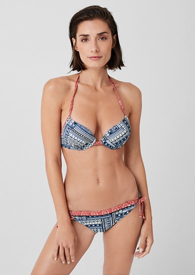 Push-Up Bikini-Top im Mustermix