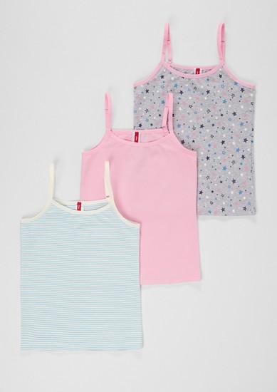 3er-Pack Bodywear-Tops