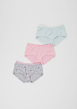 3er-Pack Baumwoll-Panties