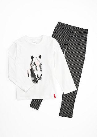 Lange pyjama met paardenmotief