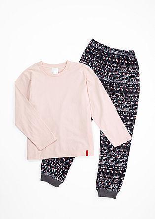 Langer Baumwoll-Pyjama