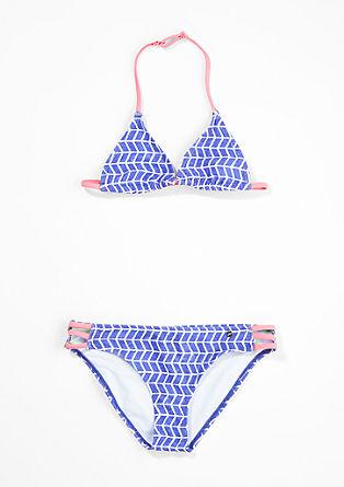 Neckholder-Bikini mit Kontrasten