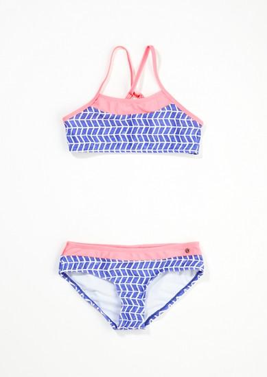 Bustier-Bikini mit Kontrasten