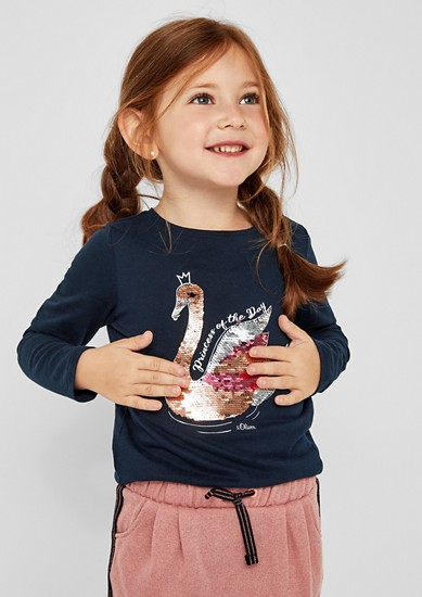Langarmshirt mit Pailletten-Motiv