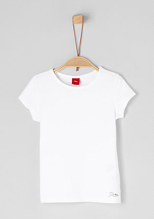 Basic-Shirt aus Jersey