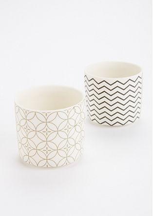Teelichthalter-Set aus Keramik