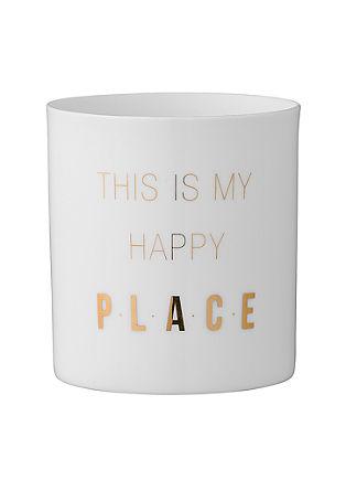 Teelichtgefäß 'Happy Place'