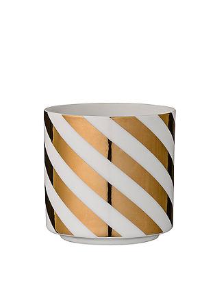 Teelichtgefäß mit Streifen