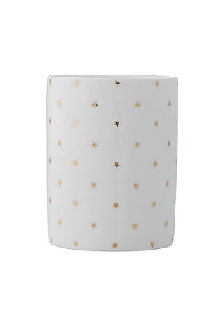 Teelichtgefäß mit Sternen
