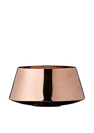 Teelichtgefäß in Kupfer-Optik
