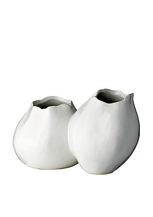 Doppelvase aus Steingut