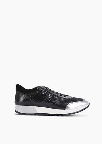 Glitzernde Leder-Sneaker