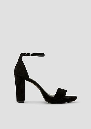High Heel-Sandaletten aus Leder