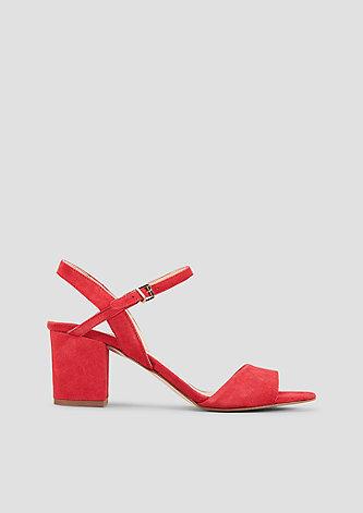 Elegante Sandaletten aus Veloursleder