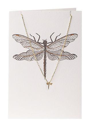 Set: Karte mit Libellen-Kette