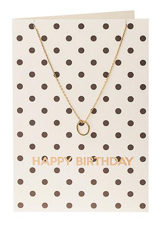 Set: Geburtstagskarte mit Halskette