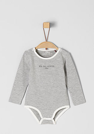Cotton jersey bodysuit from s.Oliver