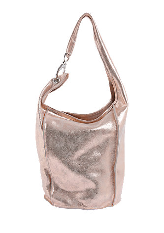 Ledershopper im Metallic-Look