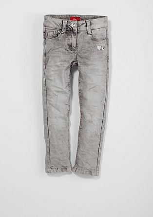 Kathy: Stretch-Jeans mit Stitchings