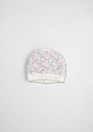 Bouclé knit hat from s.Oliver