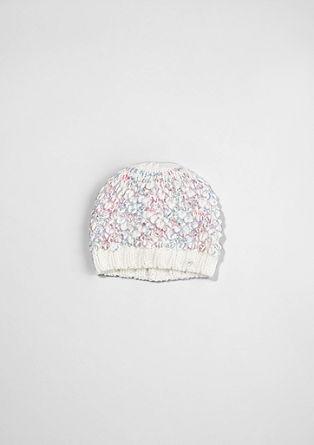 Mütze aus Bouclé-Strick