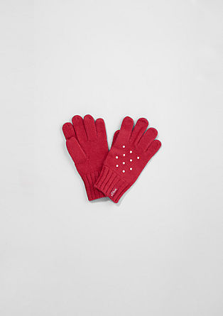 Gloves with rhinestones from s.Oliver