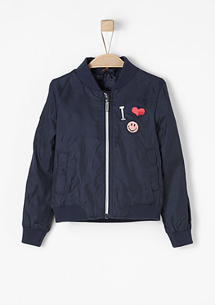 High-performance aviator jacket with patches from s.Oliver