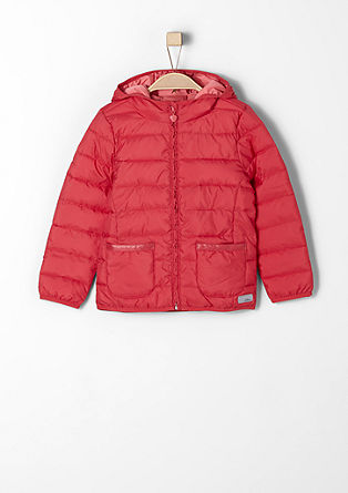 Quilted jacket with ruching from s.Oliver