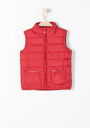 Quilted bodywarmer with glitter from s.Oliver